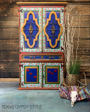 A Texas Gypsy Style Project: Moroccan Inspired Armoire