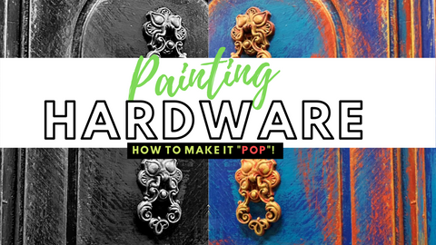 How to Paint Hardware, Texas Gypsy Style, Painted Furniture Accents Video Tutorial