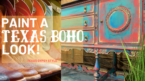 Texas Gypsy Style, Furniture Painting Technique, Gypsy Boho Style Painted Furniture