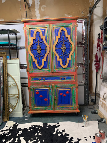 colorful armoire