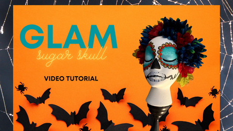 Sugar Skull Decor, Painted Halloween Decor, Texas Gypsy Style, Video Tutorial