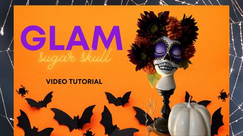 Seasonal Decor, Halloween Sugar Skulls, Painted Decor, Texas Gypsy Style Video Tutorial