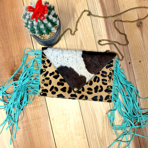 Cow Hide Purse~Crazy Train Clothing~Texas Gypsy Style