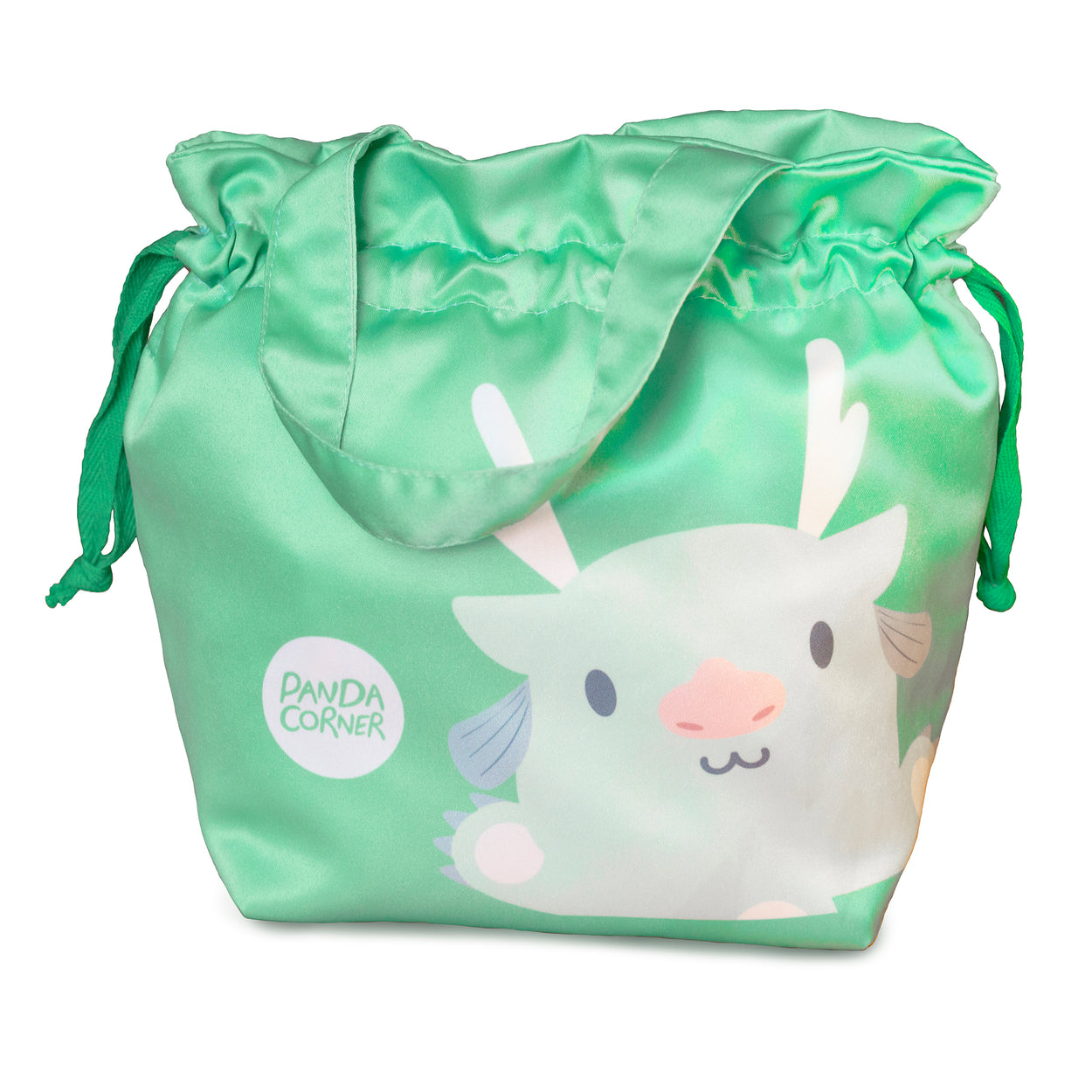 Little Silk Tote Bag (Gowgow Dragon Green)