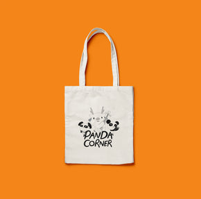 Panda Corner Fun Canvas Tote Bag