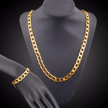 Load image into Gallery viewer, Gold 4MM 20inch Unisex Gold Chain + Bracelet