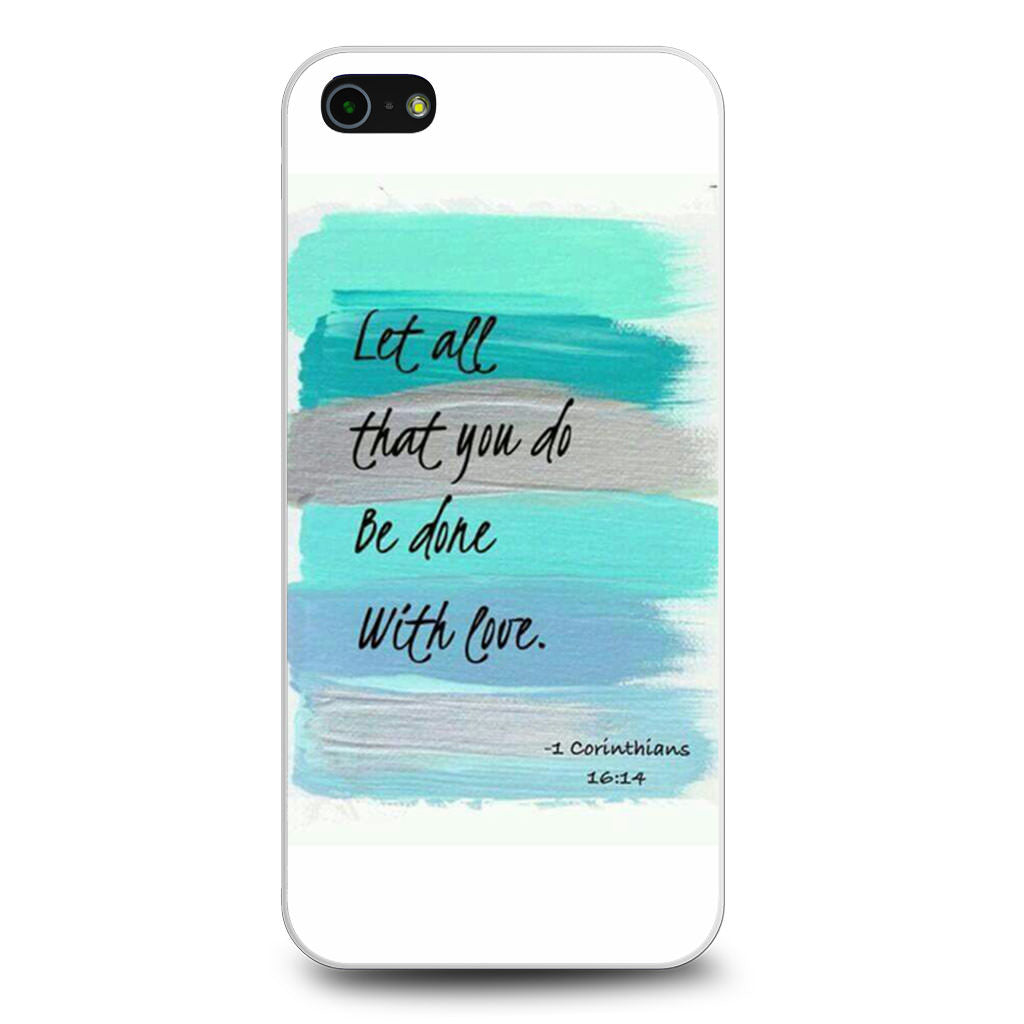 1 Corinthians 16 4 iPhone 5/5s/SE case