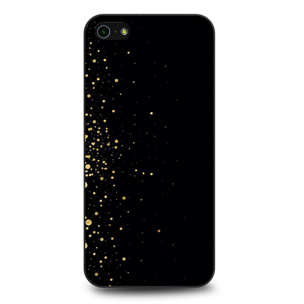 Black And Gold Sprinkle iPhone 5/5s/SE case