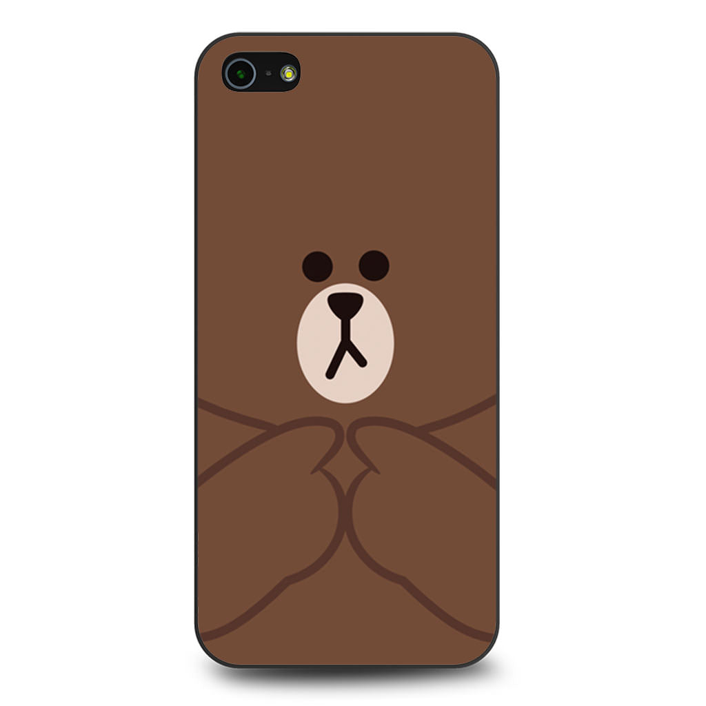 Brownmolang Line iPhone 5/5s/SE case