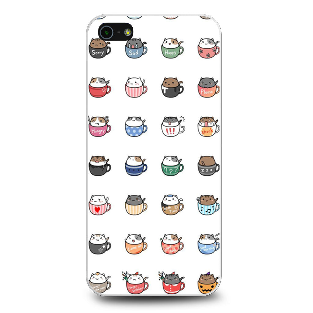 Cat In Cup Sticker iPhone 5/5s/SE case
