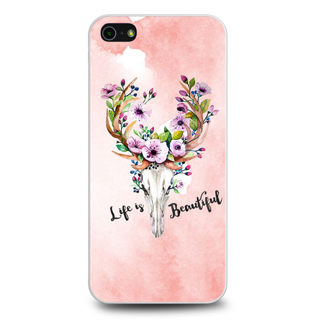 Deer Skull With Flowers iPhone 5/5s/SE case