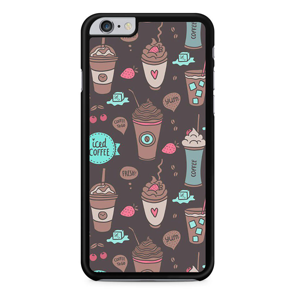 Coffe Pattern iPhone 6 Plus / 6s Plus case