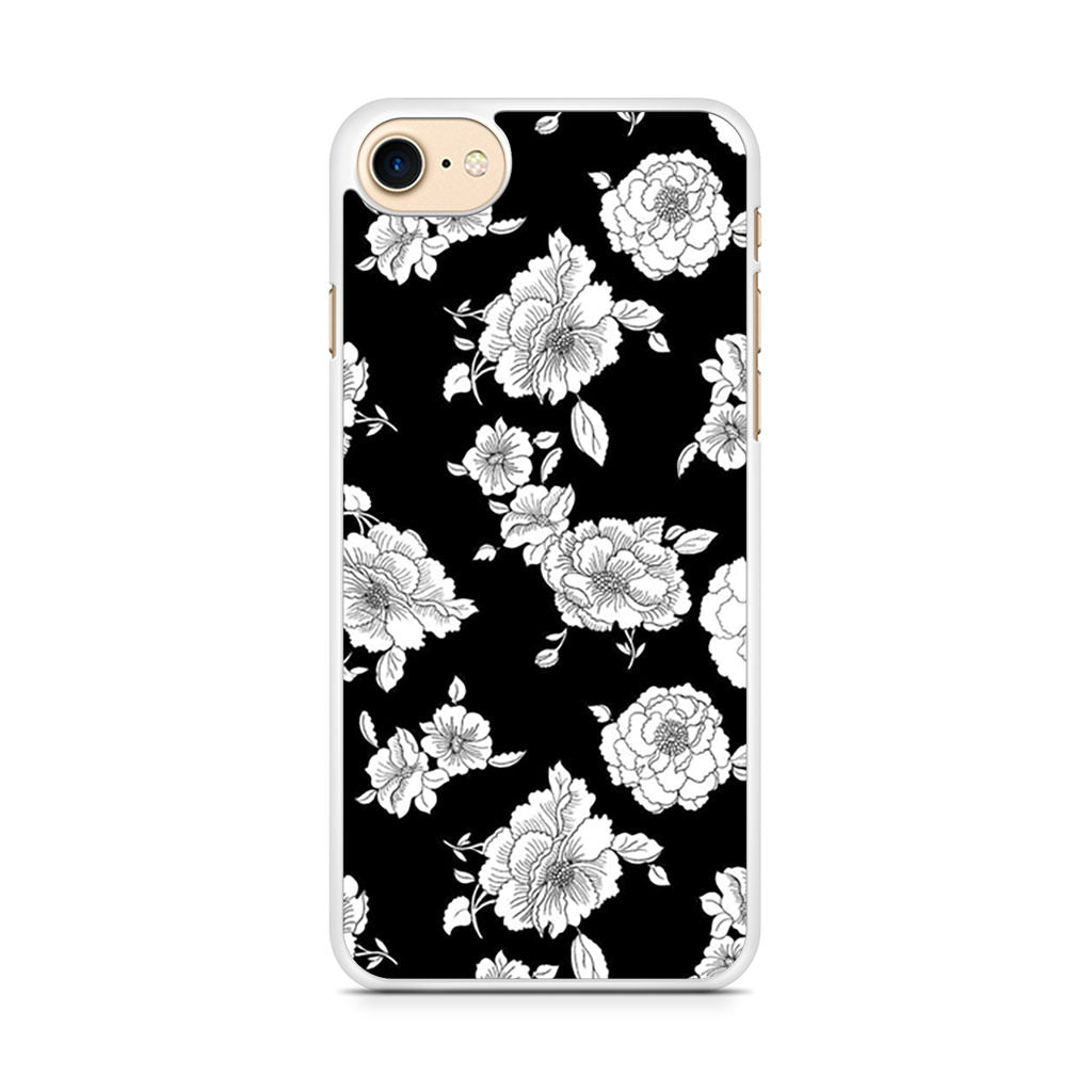 Black And White Flower iPhone 7 case