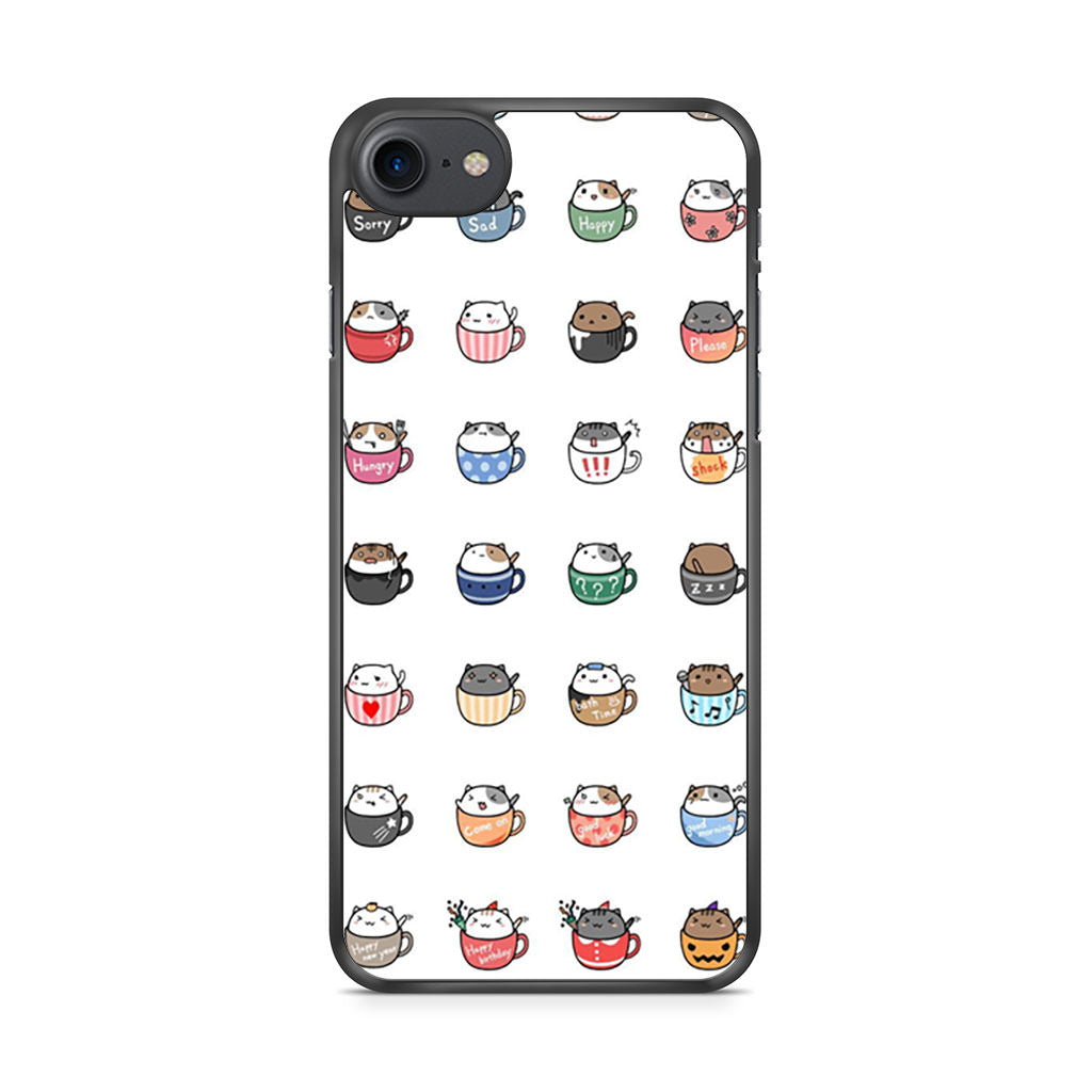 Cat In Cup Sticker iPhone 7 case