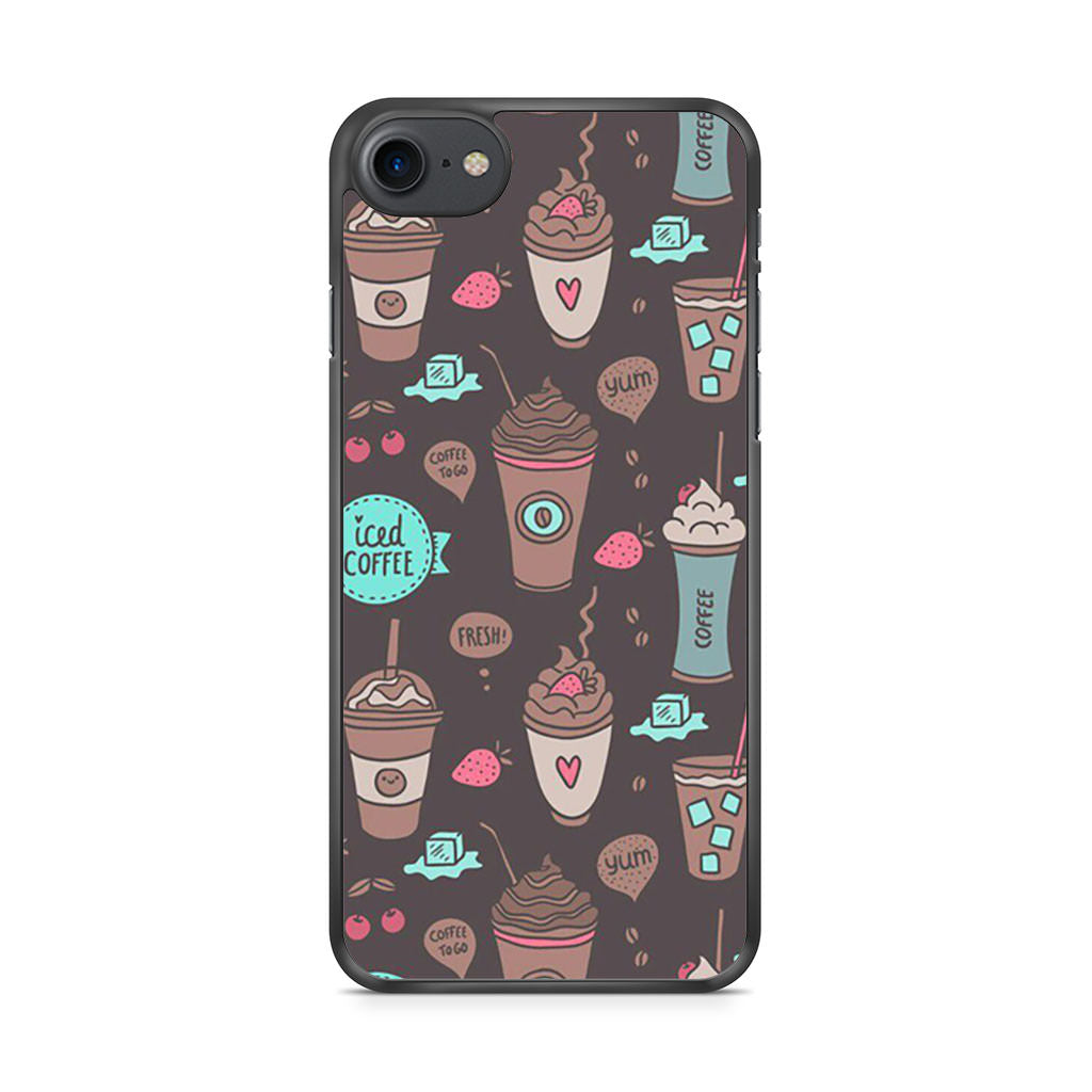 Coffe Pattern iPhone 7 case