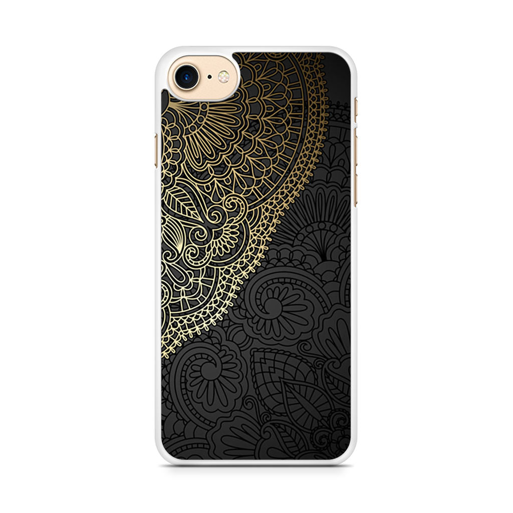 Black And Gold Mandala iPhone 7 case