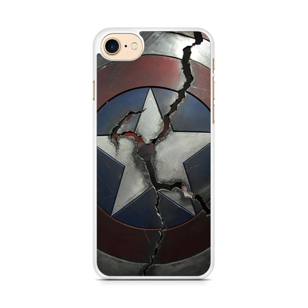 Captain America Broken Shield iPhone 7 case