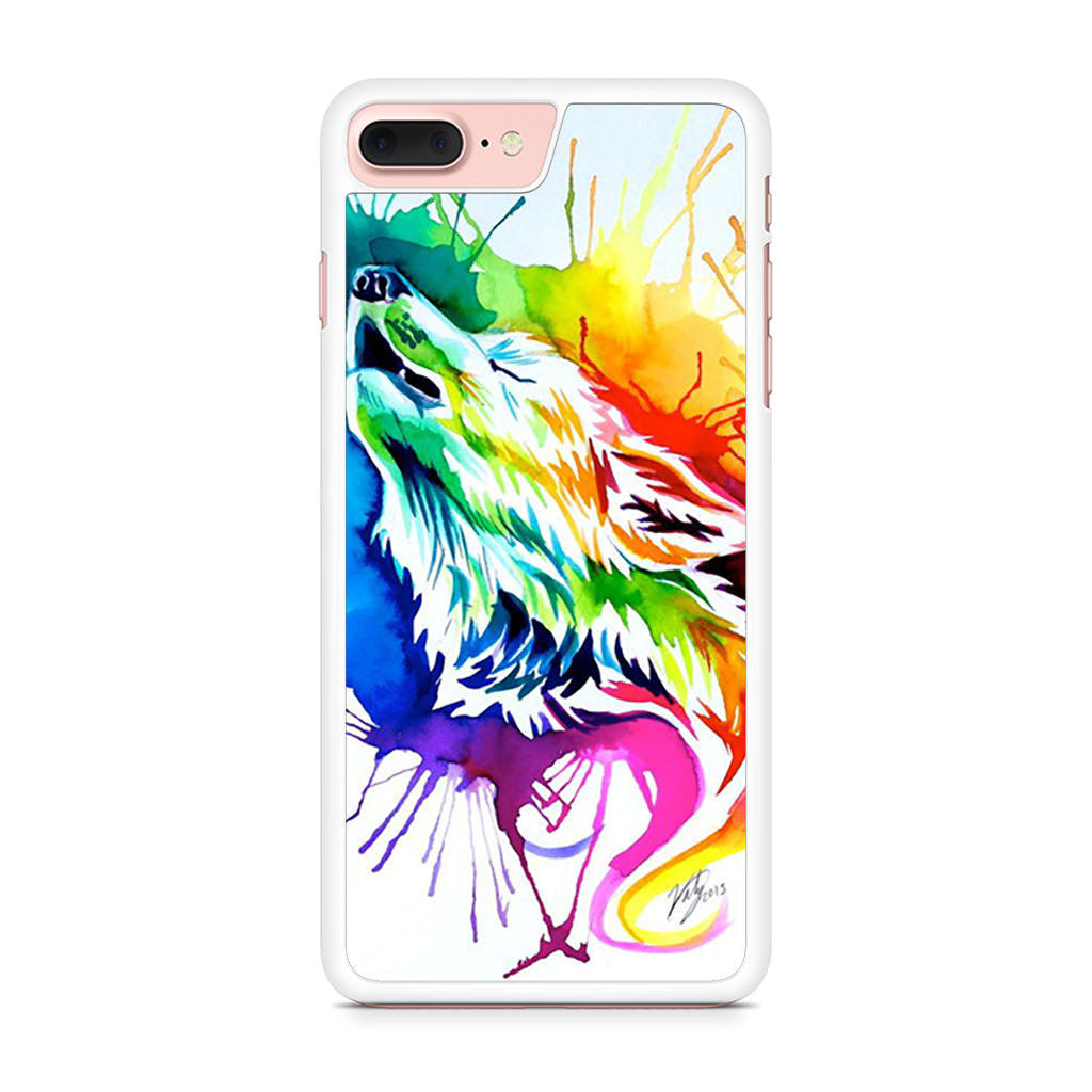 Color Wolf iPhone 7 Plus case