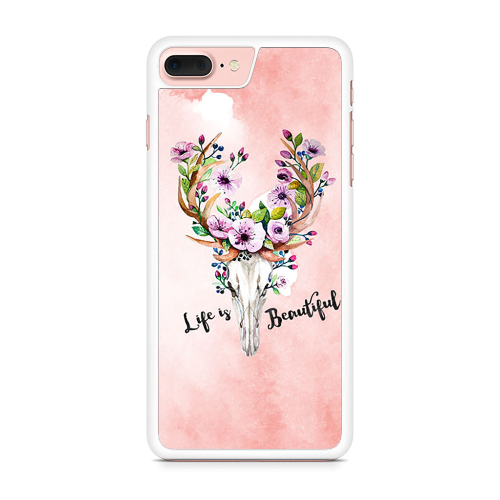Deer Skull With Flowers iPhone 7 Plus case