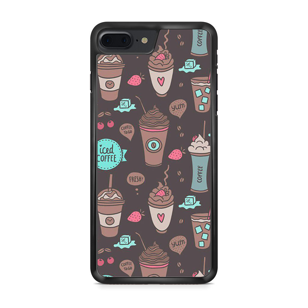 Coffe Pattern iPhone 7 Plus case