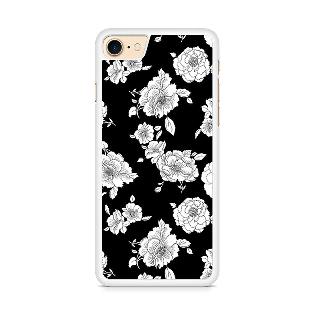 Black And White Flower iPhone 8 case