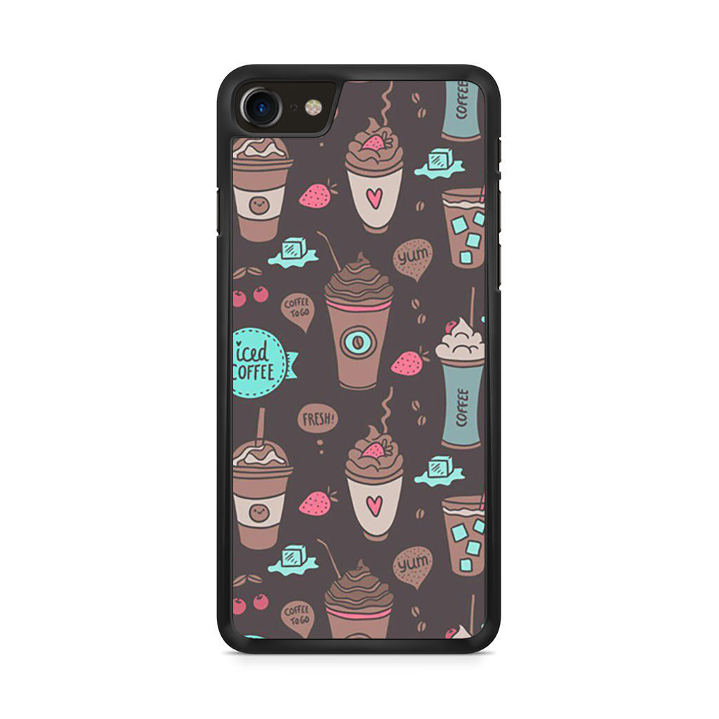 Coffe Pattern iPhone 8 case
