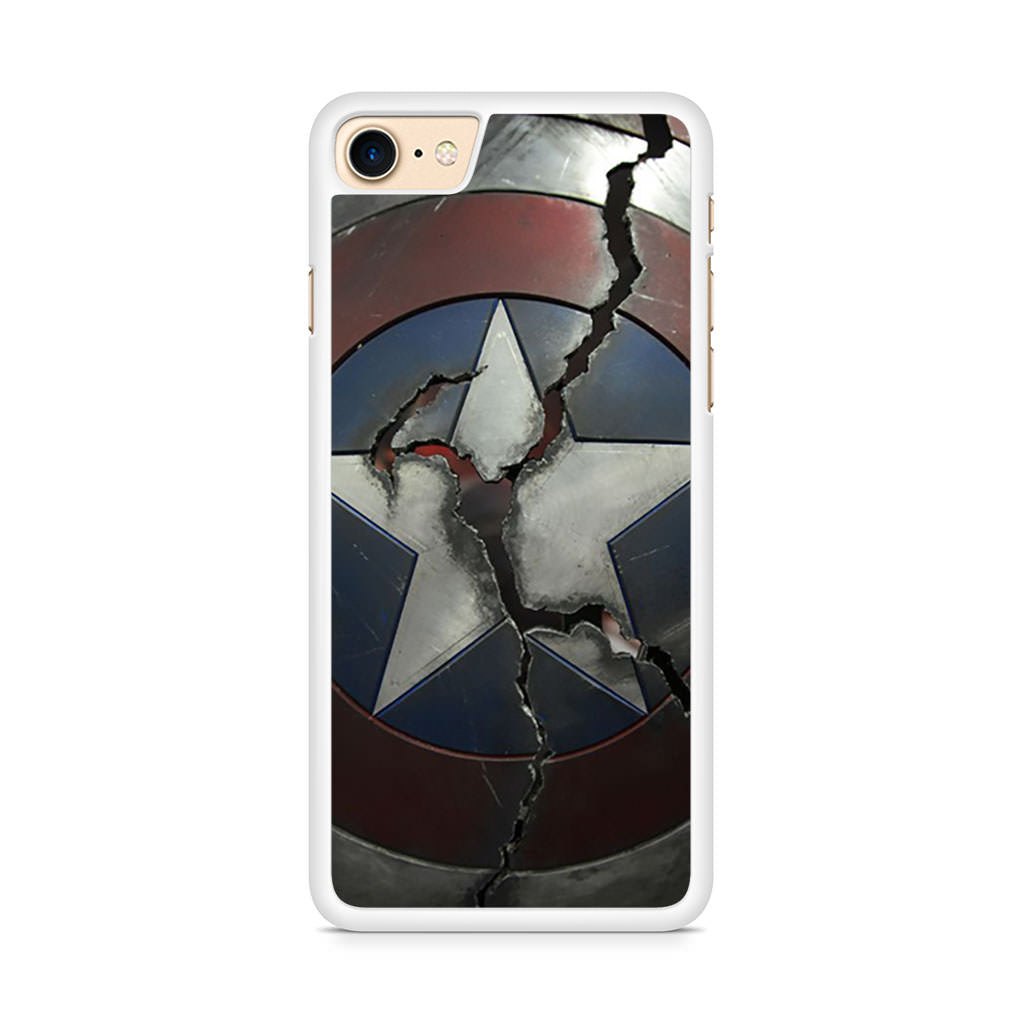 Captain America Broken Shield iPhone 8 case