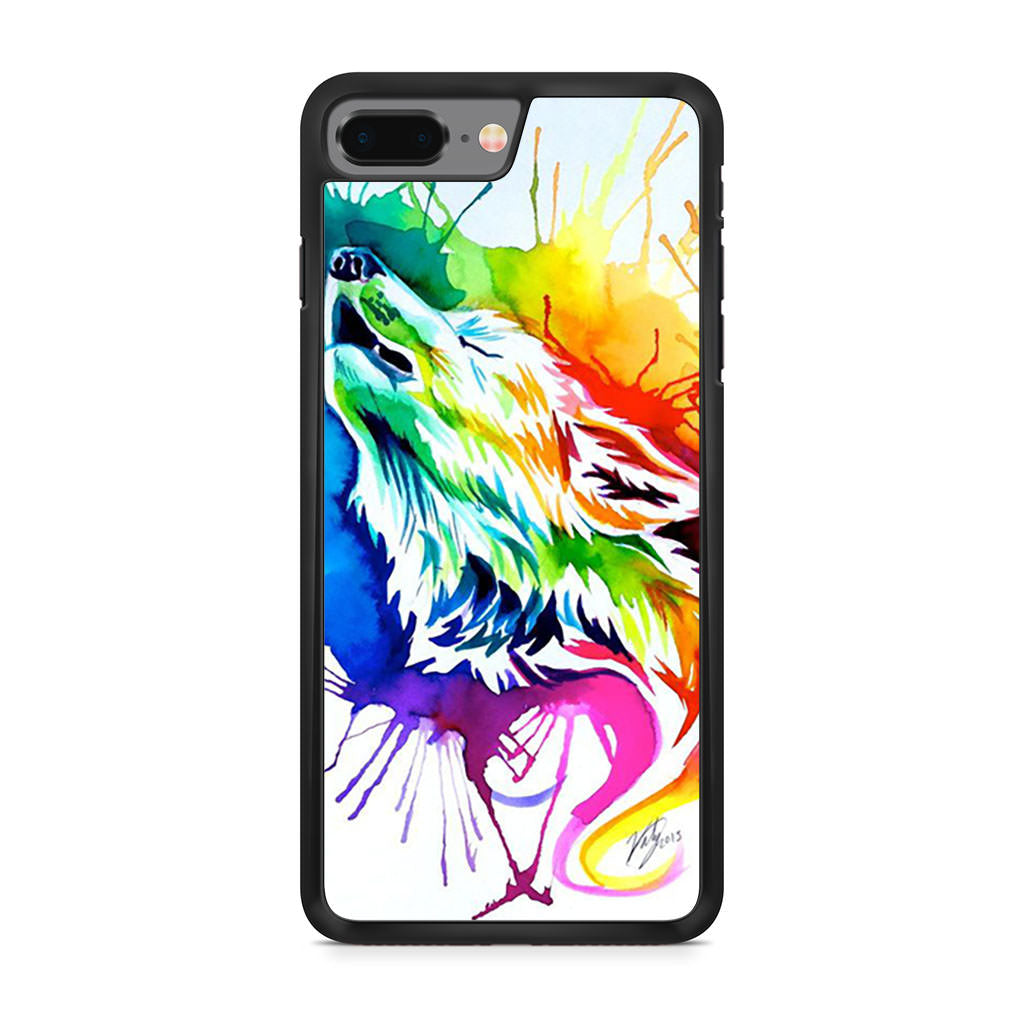 Color Wolf iPhone 8 Plus case