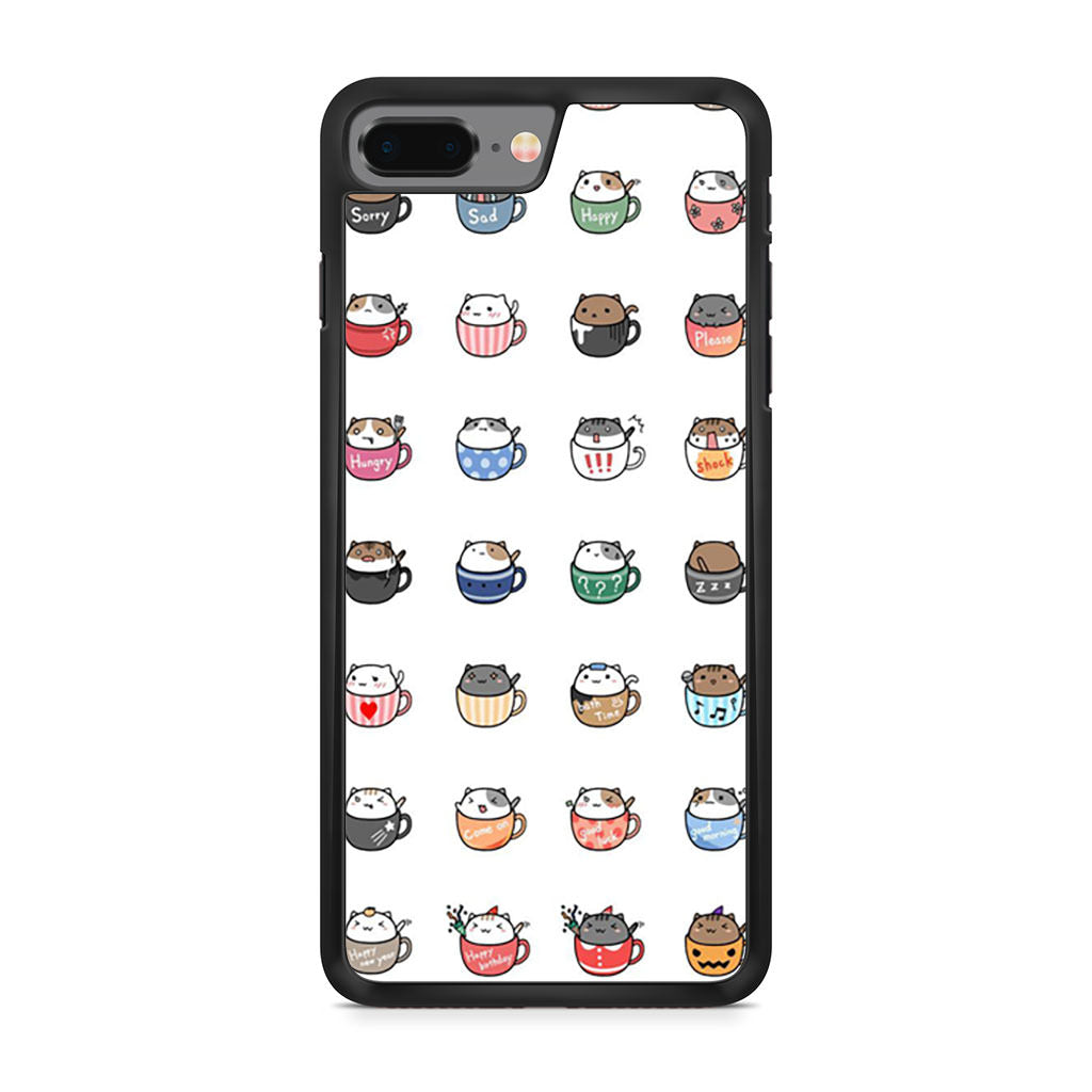Cat In Cup Sticker iPhone 8 Plus case
