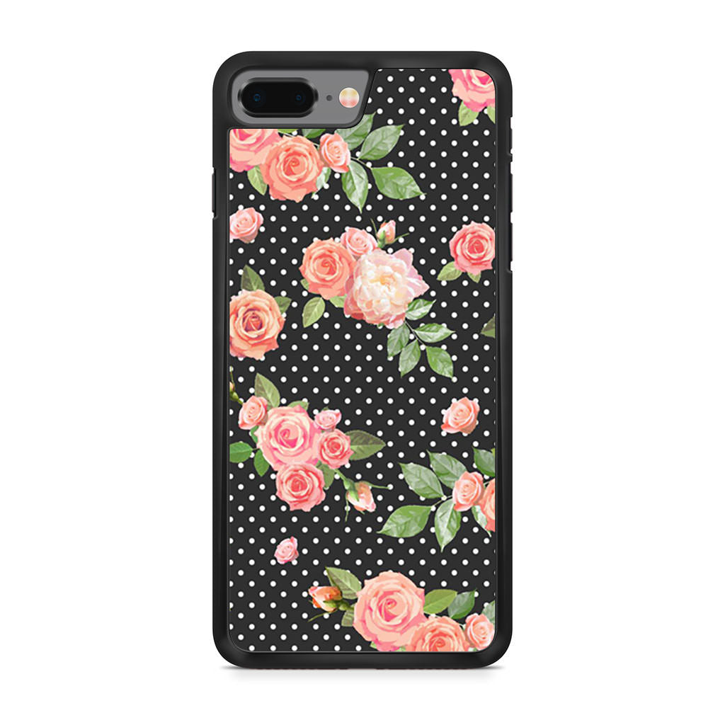 Black And White Vintage Floral iPhone 8 Plus case