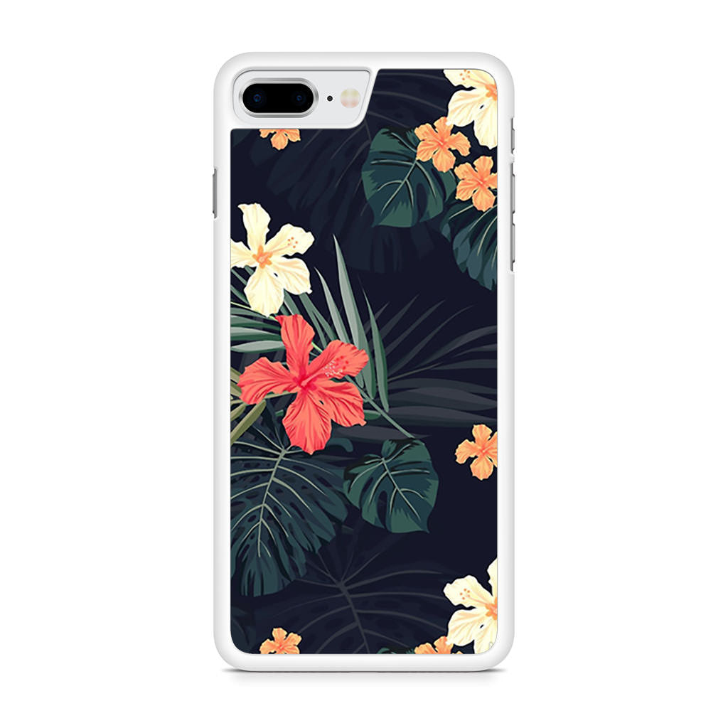 Dark Tropical Flowers iPhone 8 Plus case