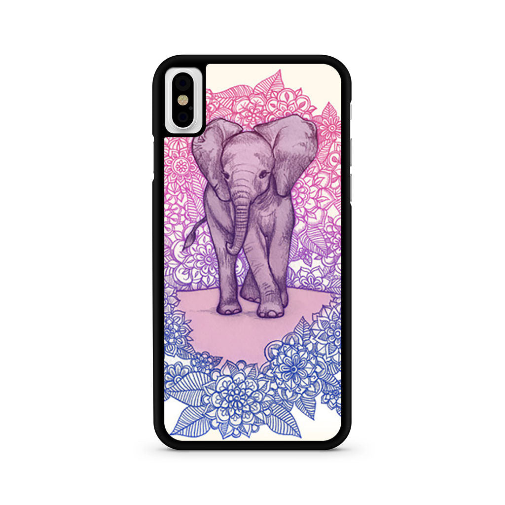 Cute Baby Elephant iPhone X case