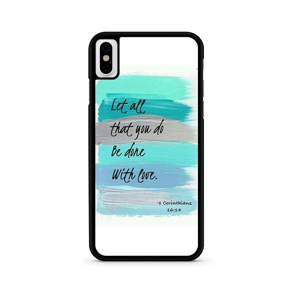 1 Corinthians 16 4 iPhone X case
