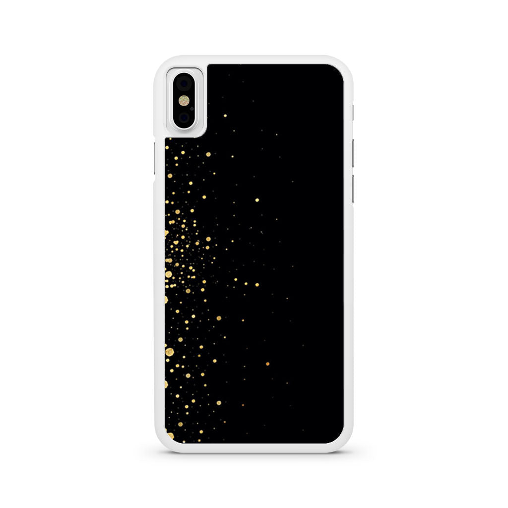 Black And Gold Sprinkle iPhone X case