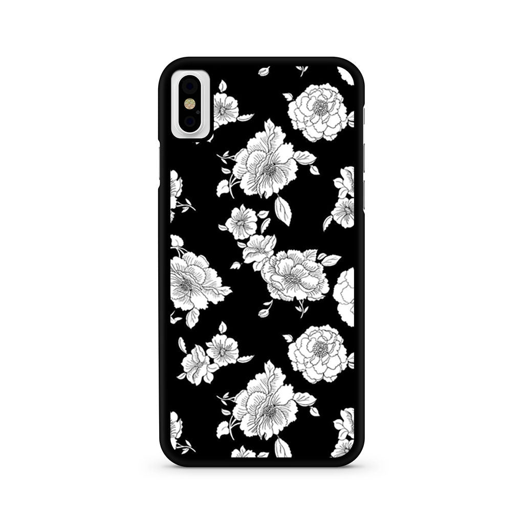 Black And White Flower iPhone X case