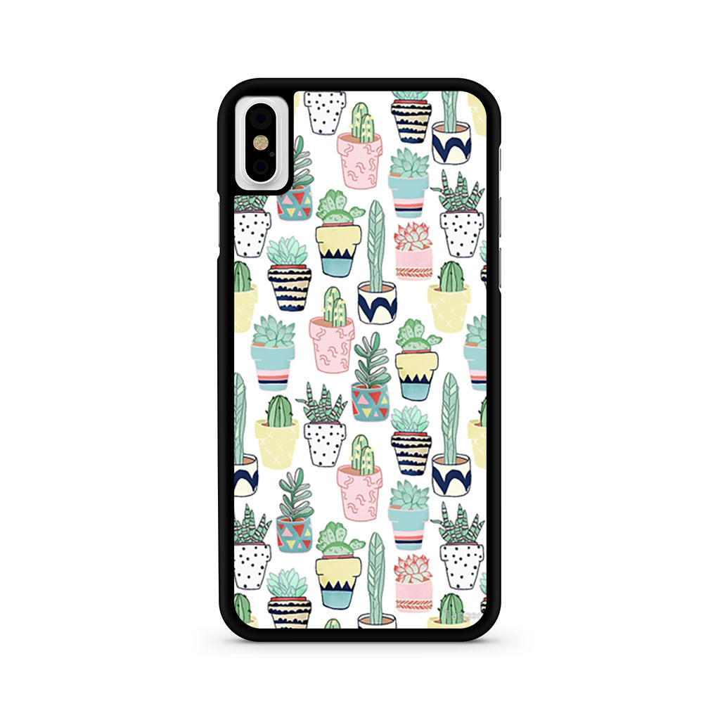 Cute Cacti iPhone X case