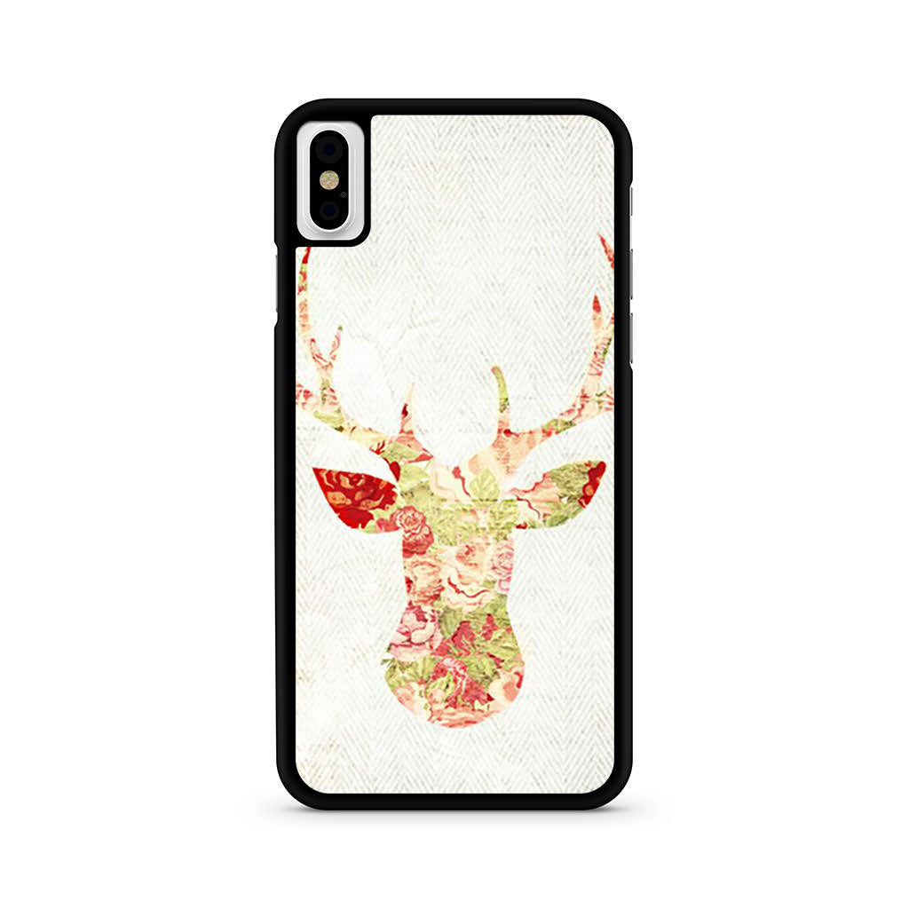 Deer Floral iPhone X case