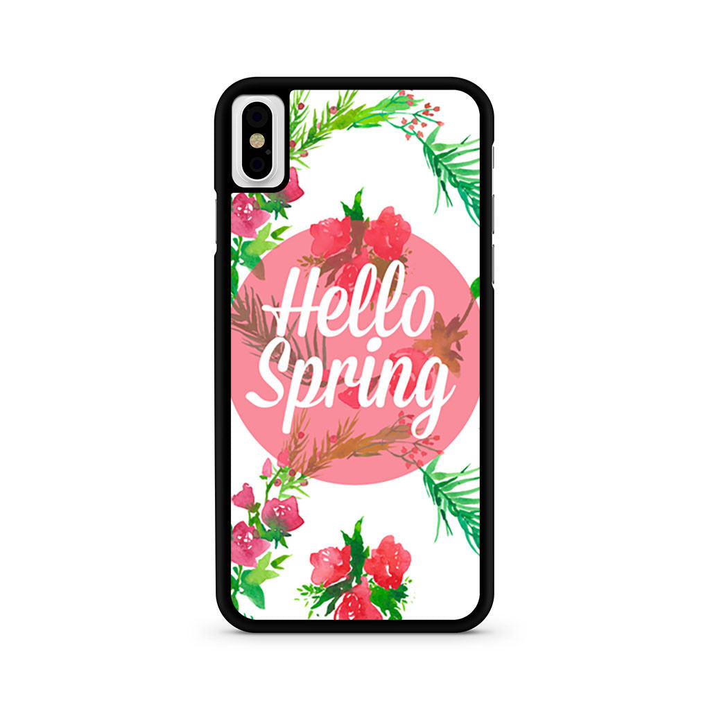 Hello Spring Pattern iPhone X case