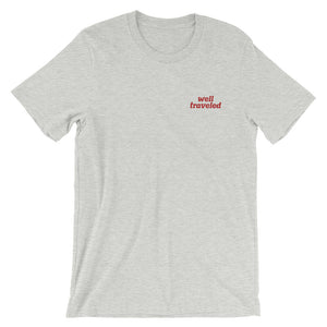 Well Traveled — Unisex Embroidered T-Shirt