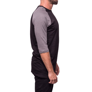 3/4 Sleeve Gray and Black Shirt