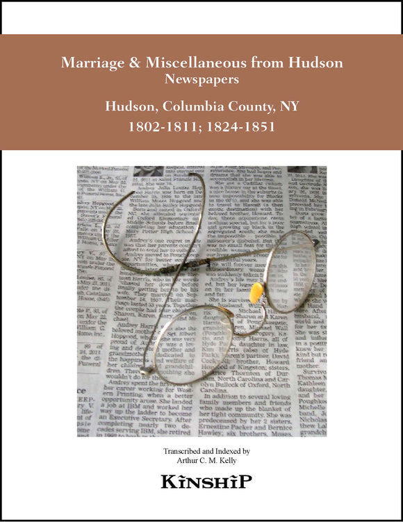 Marriage & Miscellaneous from Hudson NY Newspapers Vol. 2