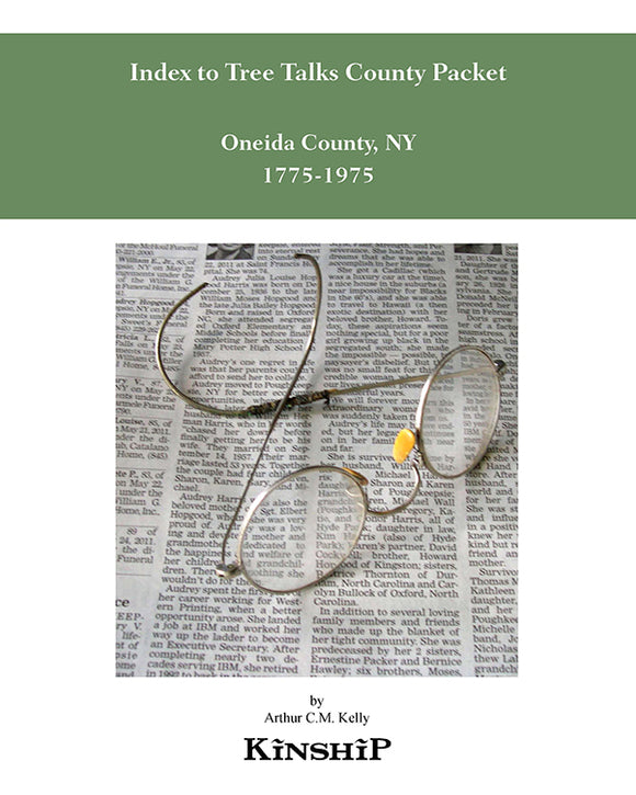 Index to Tree Talks County Packet, Oneida County, NY