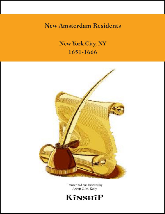 New Amsterdam Residents, New York, NY 1651-1666
