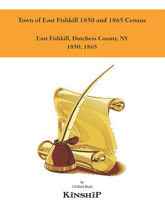Town of East Fishkill 1850 and 1865 Census