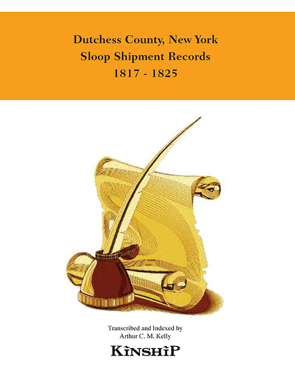 Dutchess County, New York  Sloop Shipment Records 1817-1825