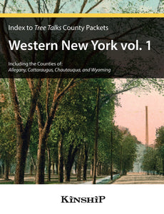 Index to Tree Talks County Packets - Western New York (Vols. 1 and 2)