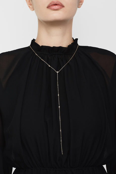 Lace Rain Necklace Black