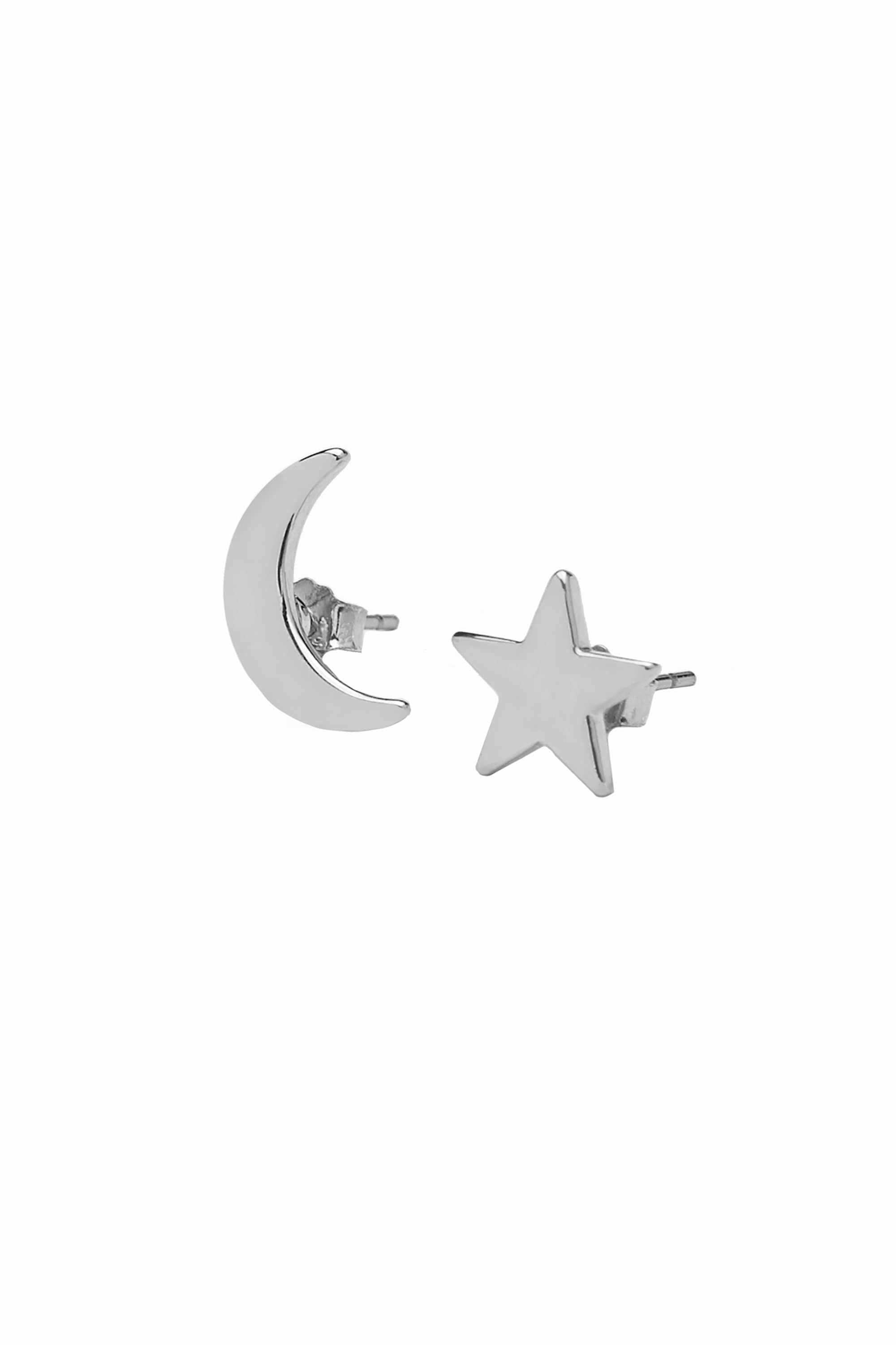 Lobo Moon and Star Basic Silver