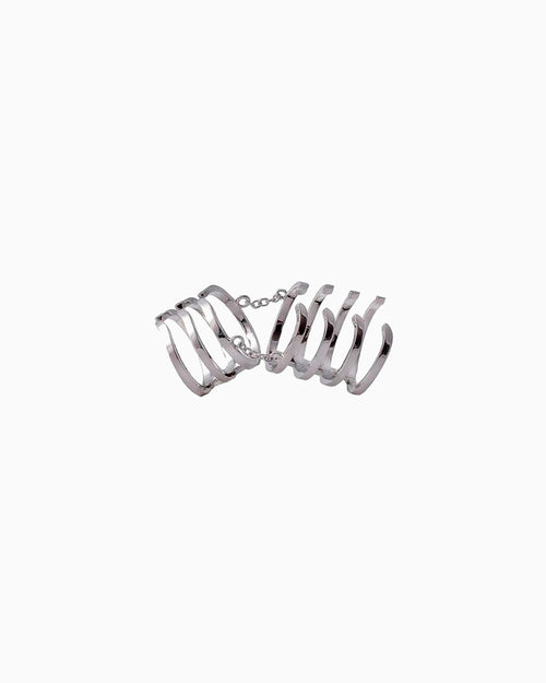 ARMOUR HOOK BASIC RING SILVER