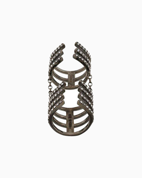 ARMOUR HOOK RING BLACK DIAMOND